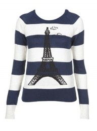 Topshop Knitted Eiffel Tower Jumper