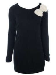 Miss Guided Ingrid Black Jumper Dress