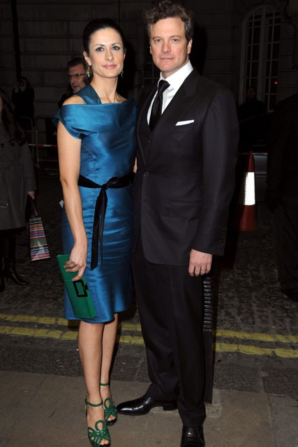 Colin Firth and Livia Giuggioli - A Single Man Premiere, London - Marie Claire