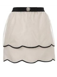 New Look Silk Bow Skirt