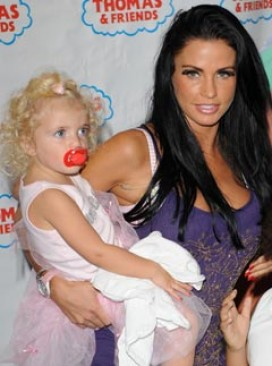 Katie Price posts images of Princess Tiaamii on Twitter, outraging Peter Andre