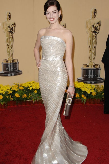 Anne Hathaway - 50 Best Oscar Dresses - Marie Claire