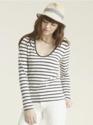Jigsaw Breton Stripe Scoop Top