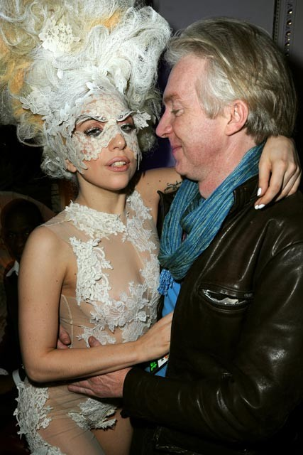 Lady Gaga and Philip Treacy at the Brits 2010 afterparty