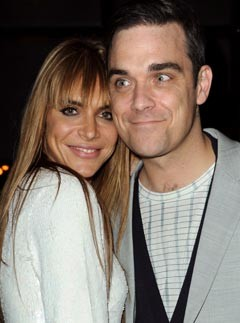 Robbie Williams and Ayda Field at the 2010 Brit Awards after-parties