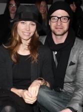 Justin Timberlake and Jessica Biel at New York Fashion Week