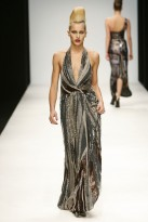 A model wears Issa A/W 2010 - London fashion week - catwalk pictures