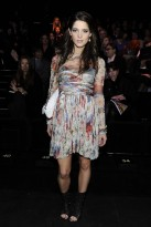 Ashley Greene at the Dolce & Gabbana show - front row celebrities - Milan fashion week