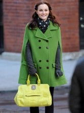 Leighton Meester on the set of Gossip Girl Season 3