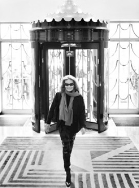 Diane Von Furstenberg at Claridges