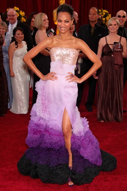 Zoe-Saldana-The Oscars 2010-Celebrity Photos-7 March 2010
