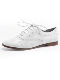 Dorothy Perkins Cream flat brogue shoes
