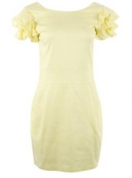 Missguided yellow shift dress