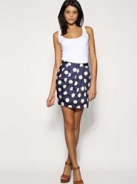 ASOS Tailored Spot Tulip Skirt