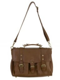 Warehouse leather buckle satchel