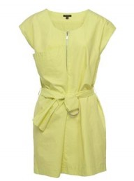 Full Circle lemon yellow dress