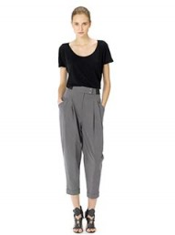 Whistles Elastic waist peg trousers