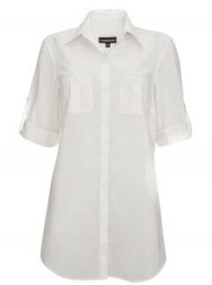 Warehouse oversize white shirt