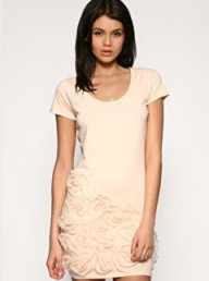 ASOS Mesh Rose Detail T-Shirt Dress