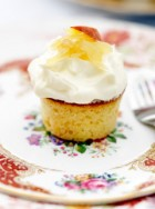 Peaches and Cream Cupcakes, Marie Claire Recipes