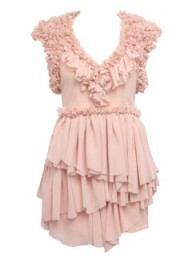 ASOS Black pink ruffle dress