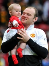 Wayne & Kai Rooney - Wayne Rooney?s win with baby Kai - Coleen Rooney - Celebrity News - Marie Claire