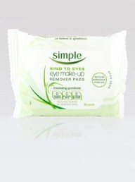 Simple Radiance Brightening Eye Make-Up Remover Pads