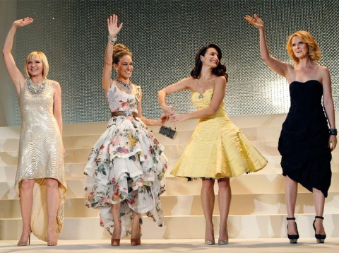 Kristin Davis, Cynthia Nixon, Sarah Jessica Parker and Kim Cattrall at the Sex and the City 2 premiere in Tokyo, Japan