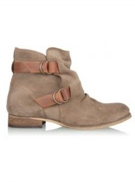 KG by Kurt Geiger Beige Sandbanks Buckle Suede Ankle Boot