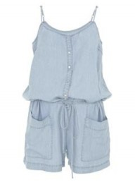 Warehouse floaty denim playsuit