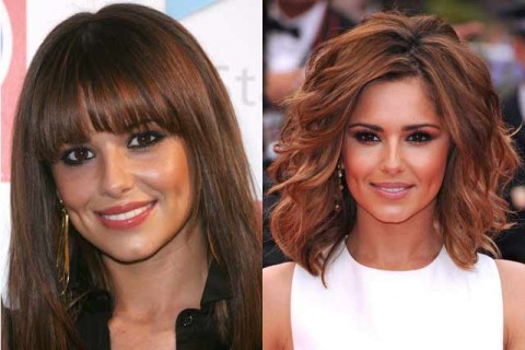 Cheryl Cole - Celebrity Hair Chameleons: fringes - Marie Claire