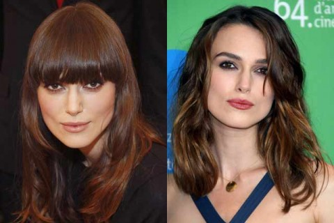 Keira Knightley - Celebrity Hair Chameleons: fringes - Marie Claire
