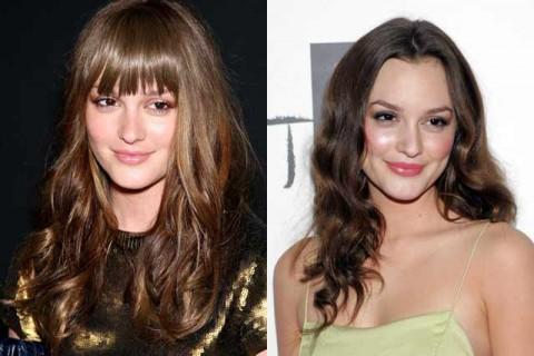 Leighton Meester - Celebrity Hair Chameleons: fringes - Marie Claire