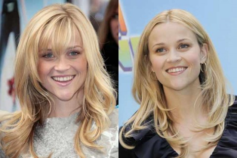 Reese Witherspoon - Celebrity Hair Chameleons: fringes - Marie Claire