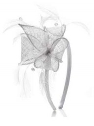 Accessorize Beaded Feather Spray fascinator