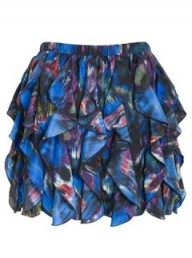 A|Wear Blue Isabel Ruffle Skirt