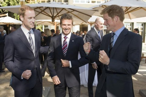 Prince Harry and Prince William in South Africa