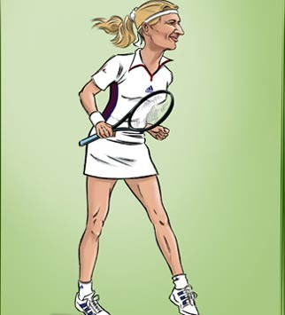 Steffi Graf - Wimbledon by James Husbands - Marie Claire