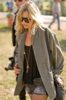 Kate Moss at Glastonbury Festival 2010
