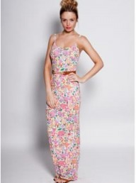 Boohoo Laura Floral Print Maxi Dress
