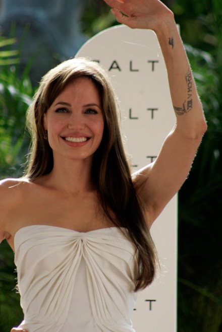 PICS! What IS Angelina Jolie's new tattoo? - Celebrity, news, Marie Claire