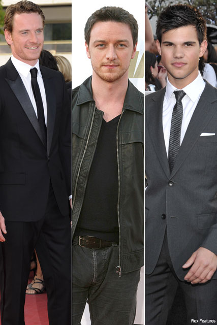 Taylor Lautner, Michael Fassbender and James McAvoy  - Taylor Lautner to star in X Men? - Eclipse - Twilight - Celebrity News - Marie Claire
