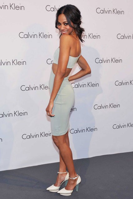 Zoe Saldana - World of Calvin Klein party, Mercedes Benz Fashion Week, Berlin - Fashion, Celebrity, Marie Claire