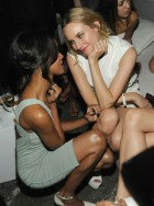 Zoe Saldana & Diane Kruger at the World of Calvin Klein party in Berlin