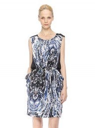 Whistles Lala Marble Print Dress