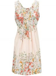 Oasis Japanese Ditsy Pintuck Dress