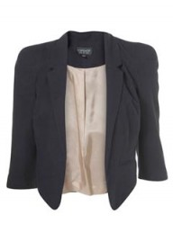 Topshop shoulder detail crop blazer