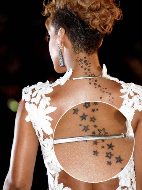 Rihanna-Celebrity Tattoo Photos
