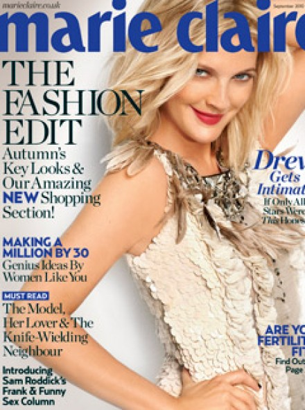 Drew Barrymore September Marie Claire Cover A/W 2010