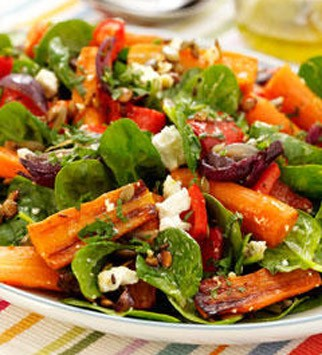 Roasted Carrot, Spinach and Feta Salad - 10 Best Summer Salads - Summer Salads - Canapes - Receipes - Marie Claire